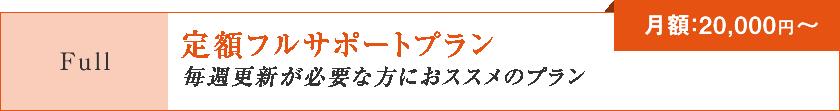 定額フルサポートプラン「毎週更新が必要な方におススメのプラン」【月額:20,000円~】